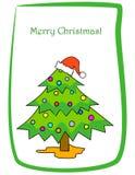 Cumprimento do Natal Fotos de Stock