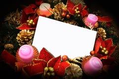 Cumprimento do Natal Imagens de Stock