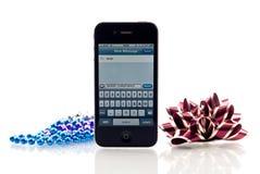 Cumprimento do Natal de Iphone 4 Imagens de Stock Royalty Free