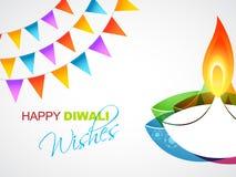 Cumprimento feliz do diwali ilustração stock