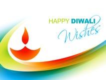 Cumprimento feliz do diwali ilustração royalty free