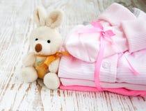 Cumprimento recém-nascido do bebê Fotografia de Stock