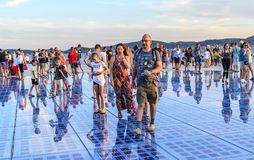 Cumprimento Sun Zadar, Croácia Fotos de Stock Royalty Free