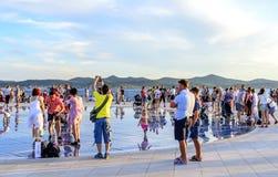 Cumprimento Sun Zadar, Croácia Fotografia de Stock