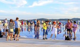 Cumprimento Sun Zadar, Croácia Foto de Stock Royalty Free