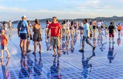 Cumprimento Sun Zadar, Croácia Fotos de Stock