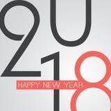 Cumprimentos - cartão do ano novo feliz do estilo ou fundo retro abstrato, molde criativo do projeto - 2018 Imagem de Stock Royalty Free
