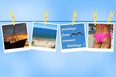 Cumprimentos das férias de verão Fotografia de Stock Royalty Free