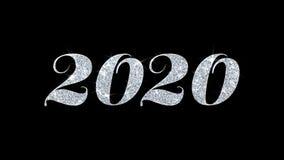 2020 cumprimentos das partículas dos desejos do texto piscar, convite, fundo da celebração