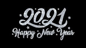 2021 cumprimentos das part?culas dos desejos do texto piscar do ano novo feliz, convite, fundo da celebra??o