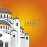 Cumprimentos de Belgrado Saint Sveti Sava Belgra da igreja ortodoxa Imagem de Stock