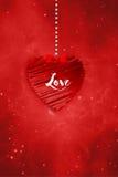 Cumprimentos do amor Imagem de Stock