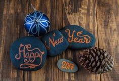 Cumprimentos 2017 do ano novo feliz Imagens de Stock Royalty Free