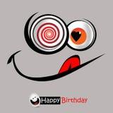 Cumprimentos do cartão do sorriso do feliz aniversario Imagem de Stock