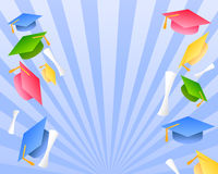 Cumprimentos do dia de graduação Imagens de Stock Royalty Free