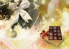 Cumprimentos do Natal, fundo festivo para as imagens rendição 3d Foto de Stock Royalty Free
