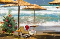 Cumprimentos do Natal, fundo festivo para as imagens rendição 3d Imagem de Stock Royalty Free
