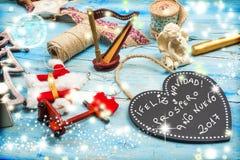 Cumprimentos do Natal, língua espanhola Imagens de Stock Royalty Free