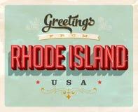 Cumprimentos do vintage de Rhode Island Vacation Card Foto de Stock