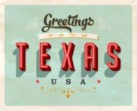 Cumprimentos do vintage de Texas Vacation Card Imagens de Stock