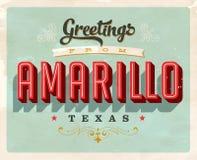 Cumprimentos do vintage do cartão de férias de Amarillo Imagens de Stock