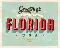 Cumprimentos do vintage do cartão de férias de Florida Fotos de Stock