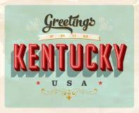 Cumprimentos do vintage do cartão de férias de Kentucky Imagem de Stock