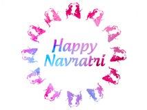 Cumprimentos hindu indianos felizes do festival de Navratri foto de stock royalty free