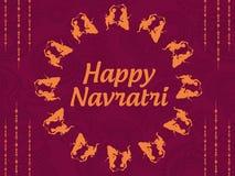 Cumprimentos hindu indianos felizes do festival de Navratri imagem de stock