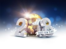 Cumprimentos mundiais do ano novo feliz 2018 Imagens de Stock
