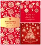 Cumprimentos vermelhos do Natal Fotografia de Stock Royalty Free