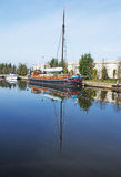 Cumująca Kanałowa barka Fotografia Stock