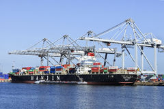 Cumujący zbiornika statku port Rotterdam Zdjęcia Royalty Free