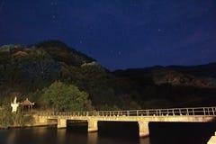 cumujący noc portu statku widok Zdjęcia Royalty Free