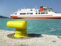 cumujący portowy statek Obraz Royalty Free