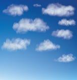 Cumuli di vettore contro un cielo blu Fotografia Stock Libera da Diritti