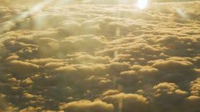 Cumuli durante il tramonto video d archivio