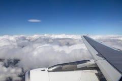 Cumuli sopra l'Europa centrale dall'aereo Immagini Stock Libere da Diritti