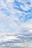 Cumuli white clouds in cloudy blue sky Stock Photography