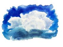 Cumulo dell'acquerello della macchia di colore Fotografie Stock