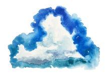 Cumulo granulare dell'acquerello del cielo del punto Fotografia Stock