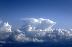 Cumulo nimbus anvil. Cumulo nimbus cloud building into typical anvil shape Royalty Free Stock Image