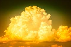 Cumulonimbus. A big and fluffy cumulonimbus cloud in the blue sky royalty free stock image