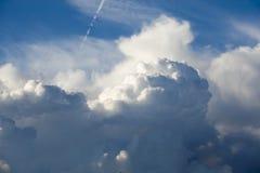 The Cumulonimbus capillatus above London in autumn Stock Images