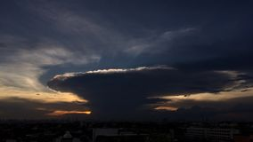 Cumulonimbus chmura zdjęcie wideo