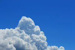 Cumulonimbus cloud building on the sky Royalty Free Stock Photo