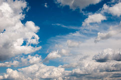 Cumulonimbus clouds background Stock Photos