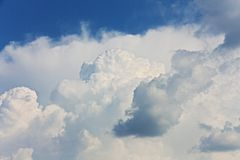 Cumulonimbus clouds Stock Photo
