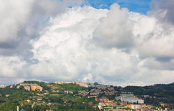Cumulonimbus over Perugia Royalty Free Stock Photography