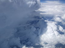 Cumulonimbus puffy clouds Royalty Free Stock Image